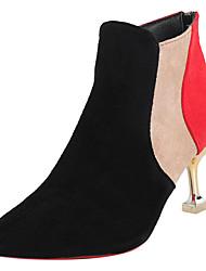 halpa -Naisten PU Kevät Bootsit Kitten-korko Terävä kärkinen Punainen / Burgundi