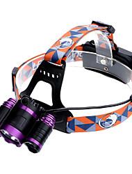 Недорогие -U'King ZQ-X826 Налобные фонари Фары для велосипеда 3000 lm Светодиодная лампа LED 3 излучатели 4.0 Режим освещения с батарейками и зарядными устройствами Масштабируемые Фокусировка Перезаряжаемый