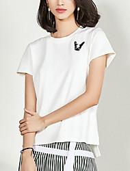 olcso -Utcai sikk Női Póló - Egyszínű