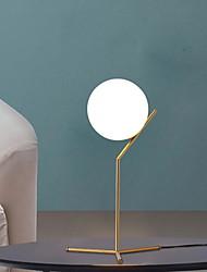Недорогие -нордический современный минималистский белый стеклянный шарик настольная лампа золото прикроватные настольные лампы светодиодные настольные светильники для спальни гостиной пол кровать
