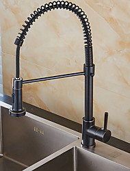 halpa -Kitchen Faucet - Yksi kahva yksi reikä Galvanoitu Standard nokka Vapaasti seisova Tavallinen Kitchen Taps