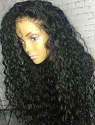 economico -capelli naturali Remy 360 frontale 6x13 Chiusura Parrucca Brasiliano Riccio Parrucca Separazione profonda 130% 150% 180% Densità dei capelli con i capelli del bambino Regolabili Resistente al calore