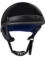 Недорогие -точка половина лица шлем мотоцикла унисекс немецкий стиль скутер велосипед черный м л xl
