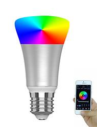 Недорогие -1 шт. 7 Вт 600-700 лм e26 e27 интеллектуальное управление приложениями wifi светодиодные лампочки земного шара 20 светодиодные шарики smd 5730 цветовой градиент затемнения времени rgbw 85-265 В