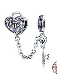 Недорогие -Друзья / Сердце Бусины Ювелирные изделия DIY - Смешанные цвета / Стиль / Из двух частей Розовый / Фиолетовый Браслеты Ожерелье