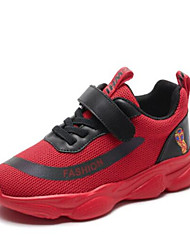 baratos -Para Meninos Sapatos Com Transparência Primavera & Outono Conforto Tênis Corrida Velcro para Infantil Preto / Vermelho / Rosa claro