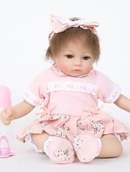 Недорогие -FeelWind Куклы реборн Кукла для девочек Девочки 18 дюймовый Силикон Винил - как живой Ручная Pабота Очаровательный Безопасно для детей Дети / подростки Non Toxic Детские Универсальные Игрушки Подарок