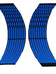 Недорогие -автомобильные наклейки на ободья шин украшения для защиты шин автомобильные наклейки на обод колеса протектор декоры стайлинга автомобилей 8 полосок