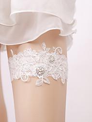 ราคาถูก -ลูกไม้ สง่างาม / เกี่ยวกับเจ้าสาว Wedding Garter กับ สไตล์คริสตัลกระจาย / มุก สายรัด งานแต่งงาน / ปาร์ตี้