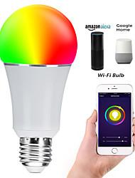 Недорогие -E27 7W светодиодные умные шарики wifi шарики smd 5730 работает с амазонкой алексой / управление приложениями / google home rgbw 85-265v
