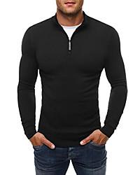 hesapli -erkek uzun kollu kazak - düz renkli standı siyah m