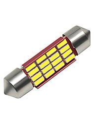 Недорогие -SO.K 4шт 39mm Автомобиль Лампы 3 W SMD 4014 250 lm 16 Светодиодная лампа Внутреннее освещение Назначение Универсальный Все года