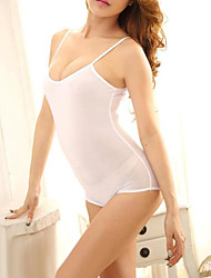 abordables -Femme Body Vêtement de nuit Dos Nu, Couleur Pleine