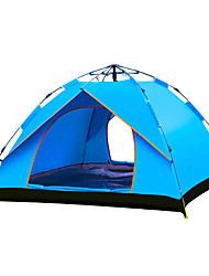 Недорогие -TANXIANZHE® 3 человека Автоматический тент На открытом воздухе С защитой от ветра Дожденепроницаемый Воздухопроницаемость Однослойный Автоматический Палатка 2000-3000 mm для