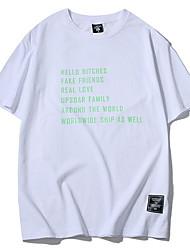 billige -Herre - Bogstaver Trykt mønster T-shirt