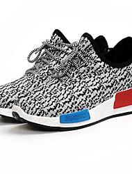 baratos -Homens Sapatos Confortáveis Com Transparência Primavera Verão Tênis Corrida Botas Curtas / Ankle Vermelho / Azul / Branco / Preto