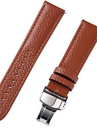 baratos -couro legítimo / Pele / Pêlo de Bezerro Pulseiras de Relógio Alça para Marrom 20cm / 7.9 Polegadas 1cm / 0.39 Polegadas / 1.2cm / 0.47 Polegadas / 1.3cm / 0.5 Polegadas