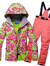 29f989fcc6 RIVIYELE Women s Ski Jacket with Pants Skiing Winter Sports Chinlon  Tracksuit Down Jacket Ski Wear