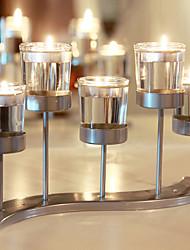 levne -Moderní soudobé / minimalistický styl sklo / Sklo / Žehlička Svícny Nové / Narozeniny / Svícen na jednu svíci 1ks, Svíčka / držák svíčky