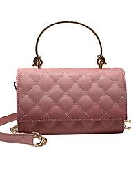 Χαμηλού Κόστους -Γυναικεία Τσάντες PU Tote Συμπαγές Χρώμα Θαλασσί / Μαύρο / Ανθισμένο Ροζ