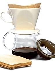 cheap -Wood Creative Disposable Coffee Irregular 10pcs Coffee Filter