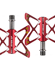Недорогие -PROMEND Педали Прочный Простота установки Герметичный подшипник 3 Подшипники Алюминиевый сплав Cr-Mo для Велоспорт Шоссейный велосипед Горный велосипед Велосипедный мотокросс Красный