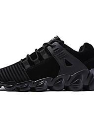 זול -בגדי ריקוד גברים נעלי נוחות עור חזיר חורף נעלי אתלטיקה שחור / אפור / חום