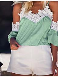 billiga -kvinna eu / us storlek skjorta - randig rem