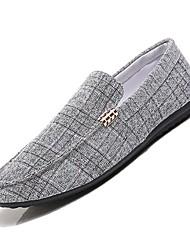 Χαμηλού Κόστους -Ανδρικά Παπούτσια άνεσης Πανί Άνοιξη & Χειμώνας Μοκασίνια & Ευκολόφορετα Μαύρο / Γκρίζο