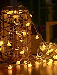 povoljno -3M Žice sa svjetlima 20 LED diode Toplo bijelo Ukrasno 5 V 1set