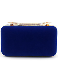 preiswerte -Damen Taschen Samt / Aleación Abendtasche Knöpfe Volltonfarbe Blau / Schwarz / Rote
