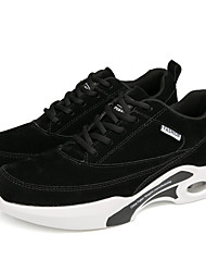 cheap -Men's Comfort Shoes Leather Winter Sporty / Casual Athletic Shoes Running Shoes Non-slipping Black / Gray / Brown