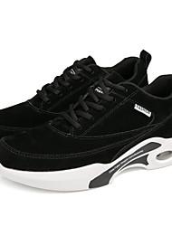 Недорогие -Муж. Комфортная обувь Кожа Зима Спортивные / На каждый день Спортивная обувь Беговая обувь Нескользкий Черный / Серый / Коричневый