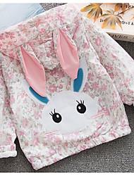 billige -Baby Jente Grunnleggende Blomstret Langermet Normal Polyester Dress og blazer Rosa