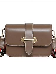 Χαμηλού Κόστους -Γυναικεία Τσάντες PU Τσάντα ώμου Φερμουάρ Συμπαγές Χρώμα Καφέ / Κρασί / Χακί