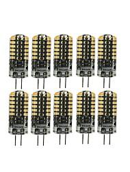 Недорогие -10 шт. 3 W 90-105 lm G4 Двухштырьковые LED лампы T 48 Светодиодные бусины SMD 3014 Милый Тёплый белый / Холодный белый 12 V