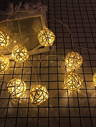 abordables -3M Guirlandes Lumineuses 20 LED Blanc Chaud Décorative 220-240 V 1 set