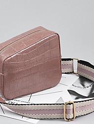 Χαμηλού Κόστους -Γυναικεία Τσάντες PU Τσάντα ώμου Ριγέ Ανθισμένο Ροζ / Καφέ / Κρασί