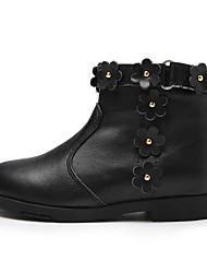billiga -Flickor Skor Läder Höst vinter Komfort / Mode Stövlar Stövlar för Barn Svart / Korta stövlar / ankelstövlar