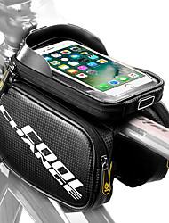 Недорогие -CoolChange Сотовый телефон сумка / Бардачок на раму 6.2 дюймовый Сенсорный экран, Компактность Велоспорт для Samsung Galaxy Note 4 / iPhone 8 Plus / 7 Plus / 6S Plus / 6 Plus / iPhone X Черный
