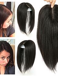 Недорогие -Laflare Клип во / на хохол Расширения человеческих волос Прямой Натуральные волосы Удлинитель Накладки из натуральных волос Волосы Бразильские волосы 1 шт. Модный дизайн Мягкость Лучшее качество Жен.
