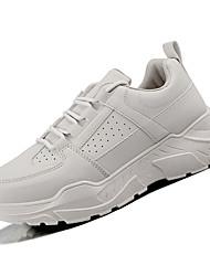 baratos -Homens Sapatos Confortáveis Couro Ecológico Primavera Casual Tênis Caminhada Respirável Branco / Bege