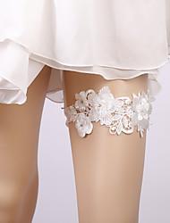 ราคาถูก -ลูกไม้ เกี่ยวกับเจ้าสาว Wedding Garter กับ เข็มกลัด / ดอกไม้ สายรัด งานแต่งงาน / ปาร์ตี้