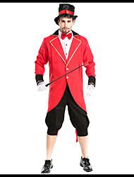 זול -המופע הגדול תלבושות בגדי ריקוד גברים תחפושות משחק של דמויות מסרטים אדום מעיל חולצה מכנסיים האלווין (ליל כל הקדושים) קרנבל נשף מסכות אלאסטייןו polyster