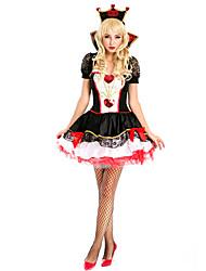 זול -המופע הגדול תלבושות בגדי ריקוד נשים תחפושות משחק של דמויות מסרטים שחור שמלה לבוש ראש האלווין (ליל כל הקדושים) קרנבל נשף מסכות אלאסטייןו polyster