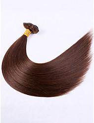 저렴한 -7 개 묶음 브라질리언 헤어 직진 버진 헤어 익스텐션 18 inch 브라운 인간의 머리 되죠 확장자 털실 천연 인간의 머리카락 확장 여성용
