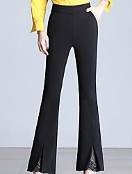 levne -dámské asijské bavlněné široké nohavice - pevná barva černá
