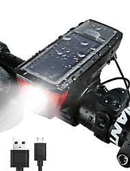 Недорогие -Светодиодная лампа Велосипедные фары Передняя фара для велосипеда Велосипедный рог Фары для велосипеда Горные велосипеды Велоспорт Водонепроницаемый Безопасность Портативные / АБС-пластик