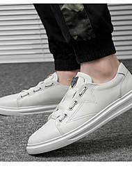 povoljno -Muškarci Udobne cipele Koža Proljeće Sneakers Obala / Crn