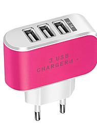 Недорогие -Портативное зарядное устройство Зарядное устройство USB Евро стандарт Нормальная 3 USB порта 3.1 A DC 5V для